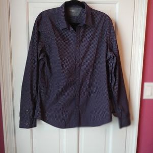 EUC Calvin Klein purple & gray dress shirt - L